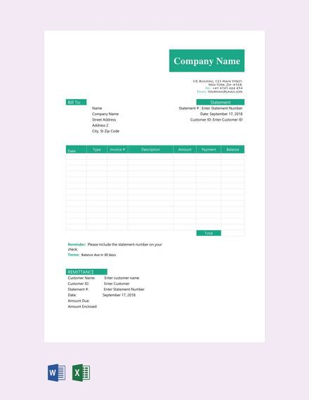 free sample statement template