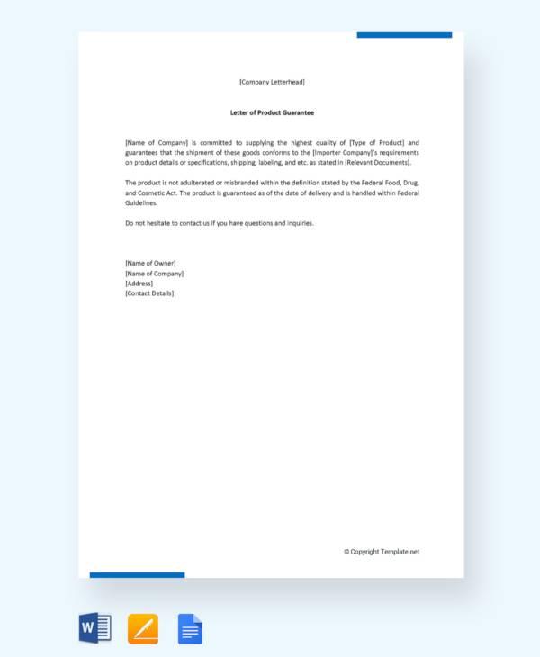 54+ Guarantee Letter Samples - PDF, DOC