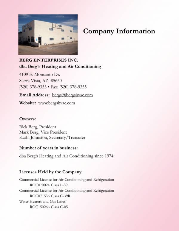 air conditioning service business plan pdf