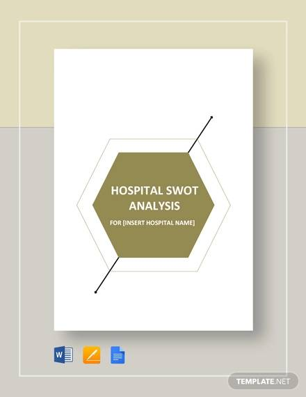 hospital swot analysis template