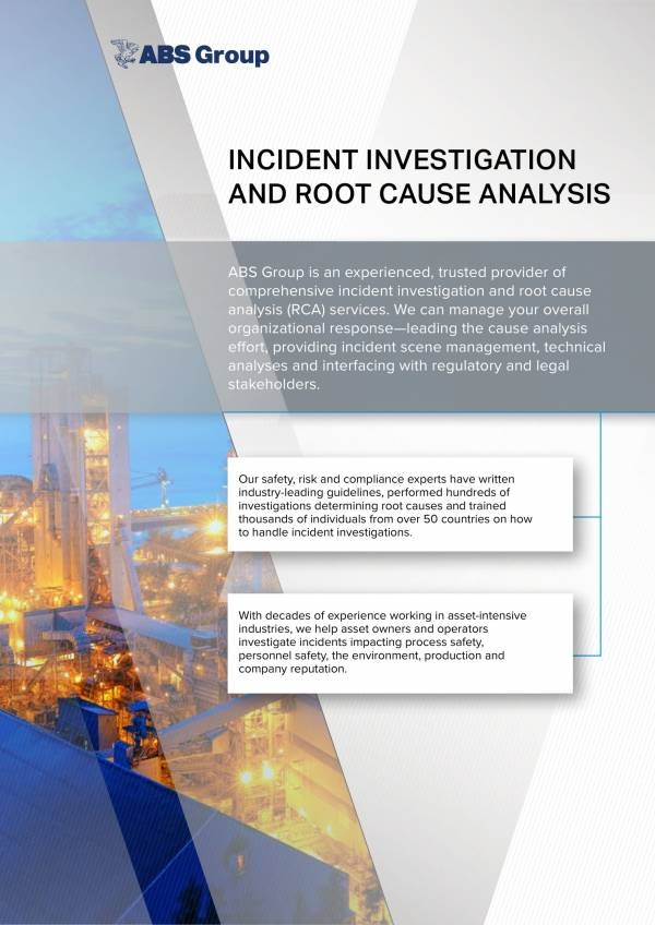 incident investigation and root cause analysis 1