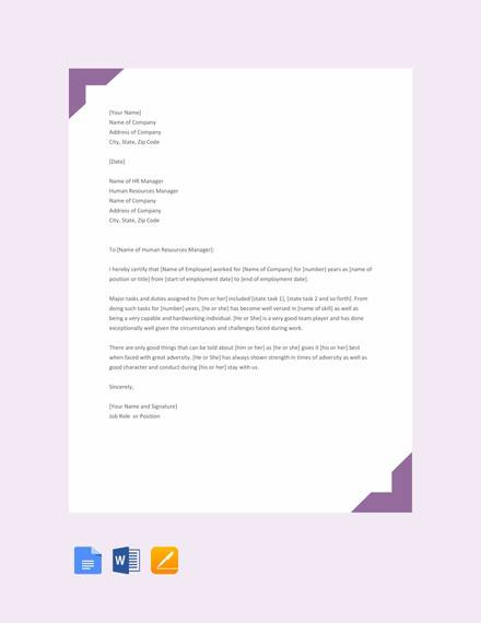 Free 15 Sample Experience Letter Templates In Pdf Ms Word Pages Google Docs