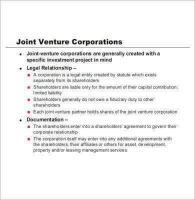 joint venture partnership agreement