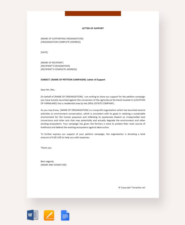 letter of support for individual