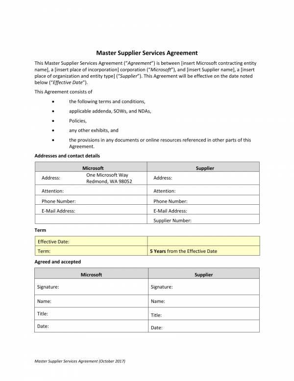master supplier services agreement 01