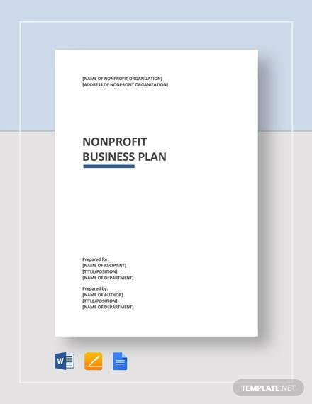 free 13  non profit business plan samples in google docs