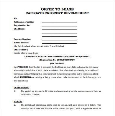 office lease agreement format