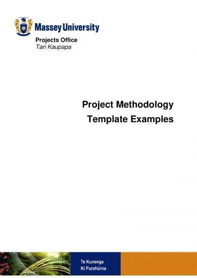 operations management plan methodology and template