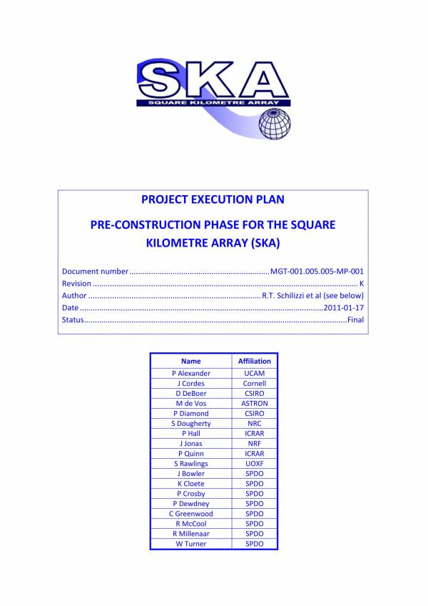 pre construction phase project execution plan 001