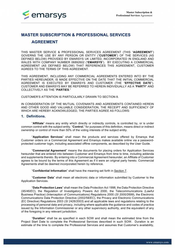 10 Master Professional Services Agreement Pdf
