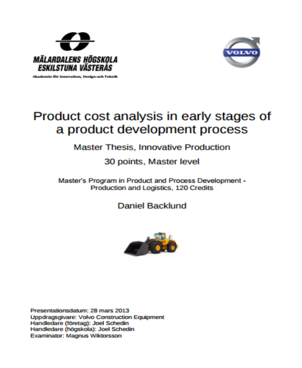 product development process cost analysis