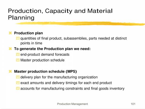 production capacity and material planning 02