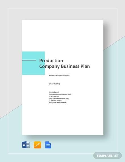 production company plan