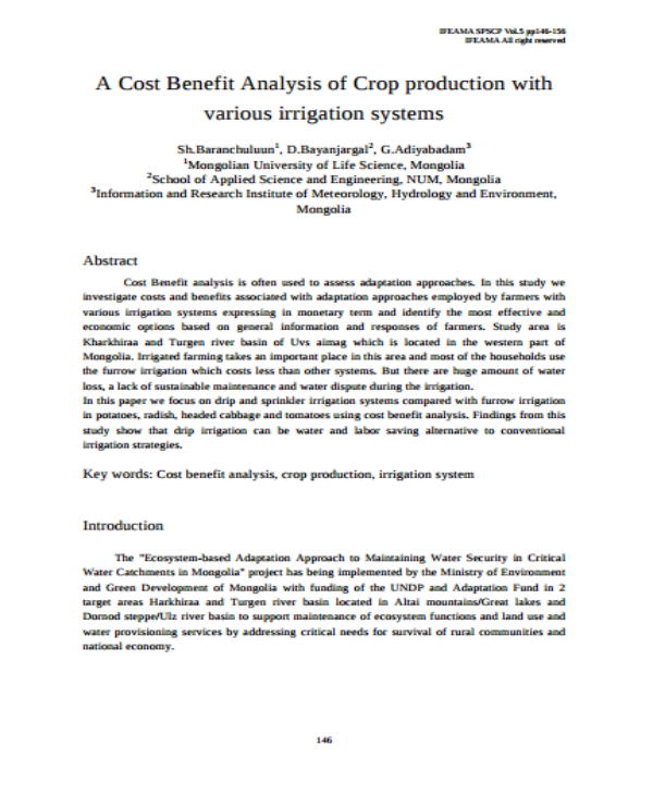 production cost benefit analysis