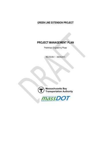 project management and operational plan layout