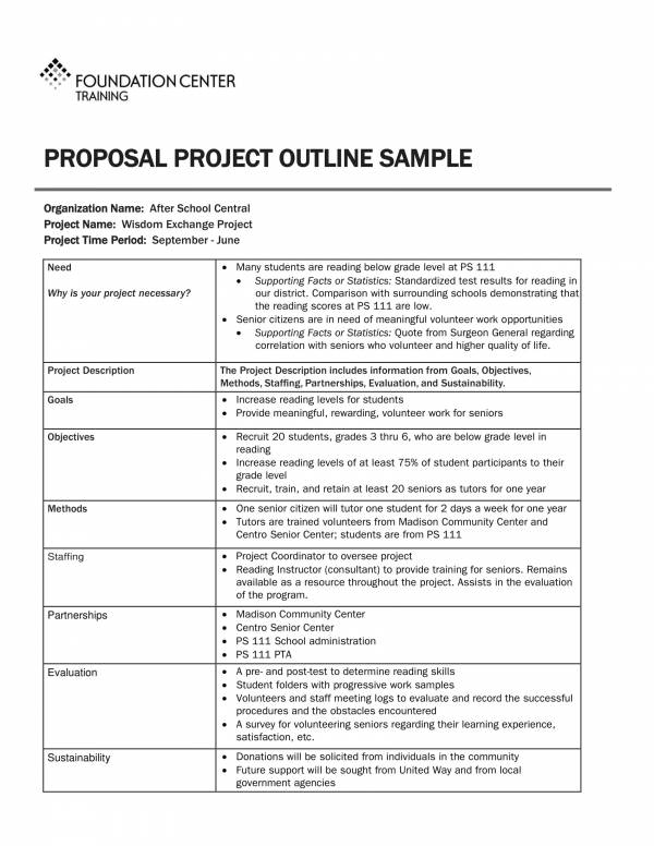 proposal project outline sample 1