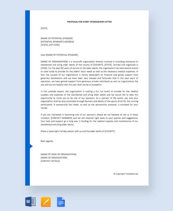 proposal for event sponsorship letter