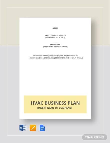 sample hvac business plan template1