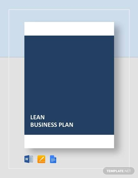 sample lean business plan