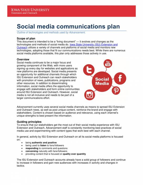 social media communications plan 01