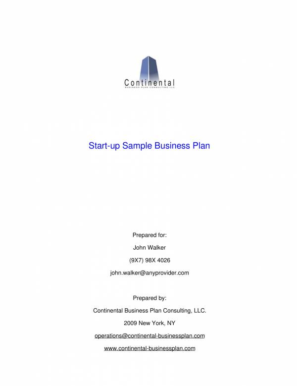 start up business financila plan sample template 01