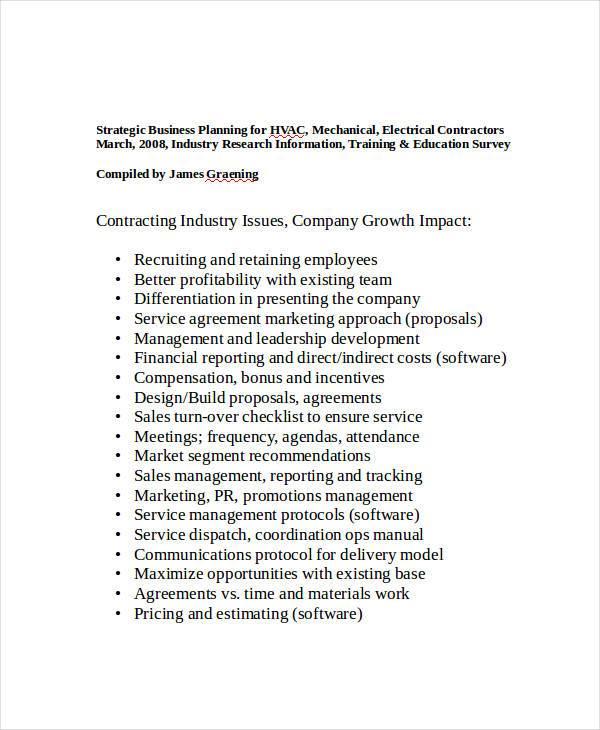 strategic business plan for hvac