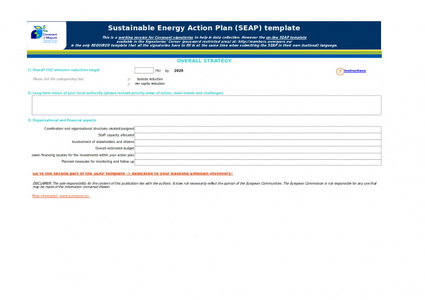 sustainable energy action plan template