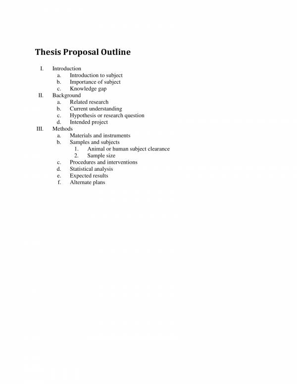thesis proposal outline template 1