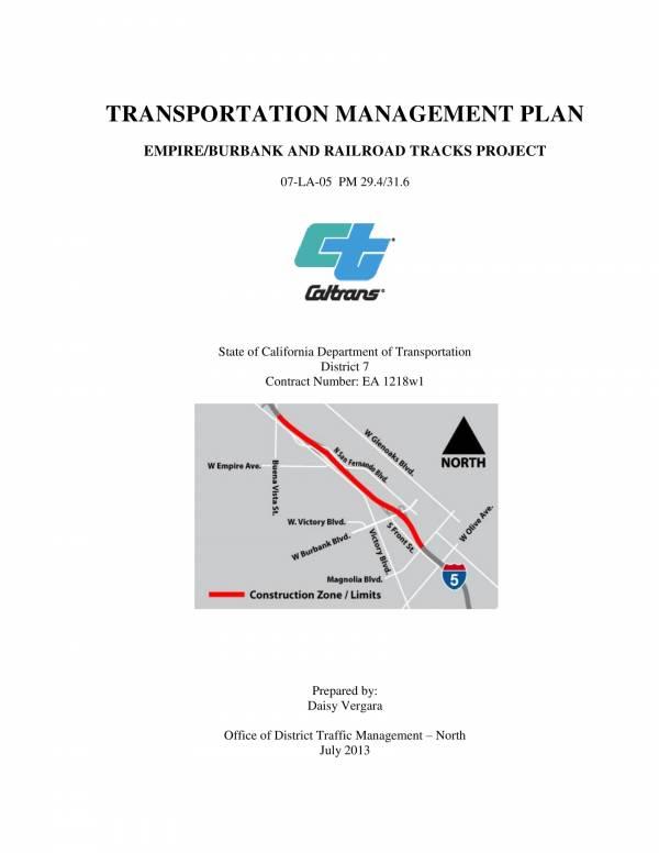 transport management plan sample template 01