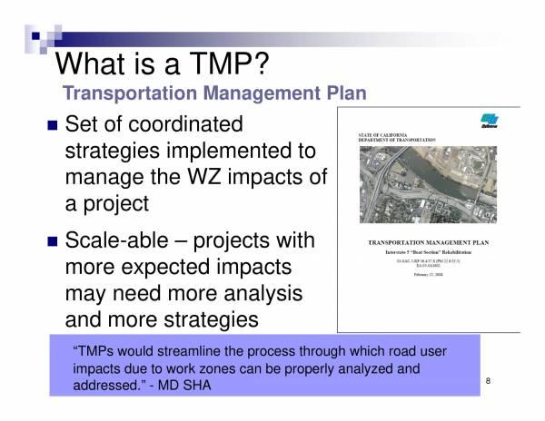 transportation management plan overview 08