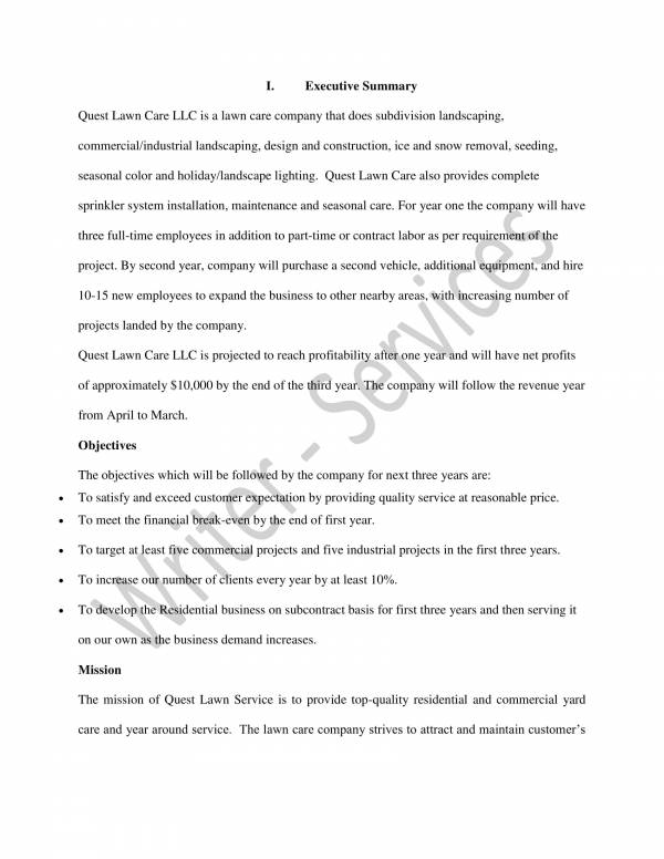 undergraduate lawn care business plan sample 02