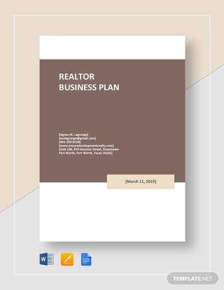 realtor business plan