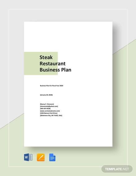 steak restaurant business