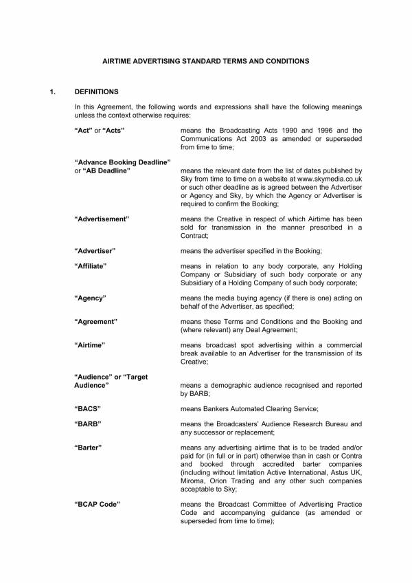 airtime advertising and marketing agreement 01