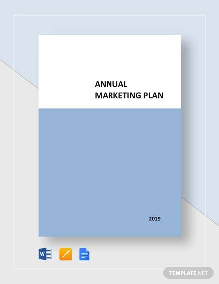 annual marketing plan template