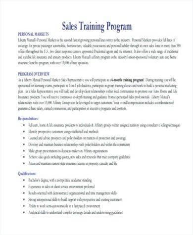 basic sales training program