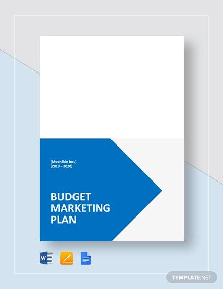 budget marketing plan template