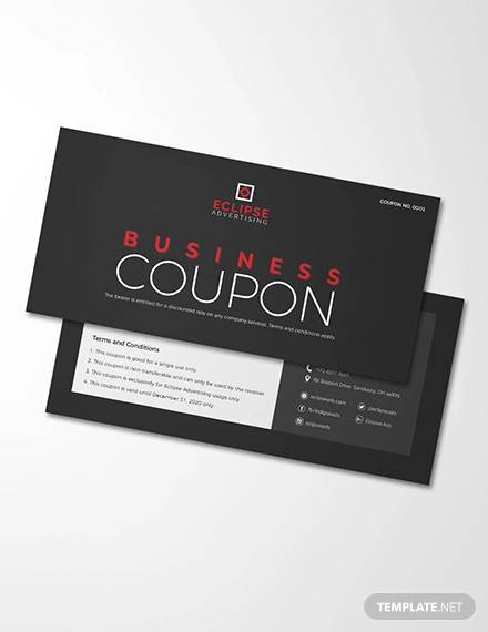 business coupons template1