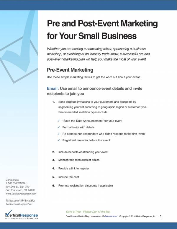business event marketing plan template 1