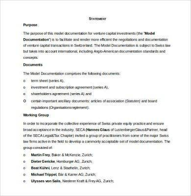 business investment contract template
