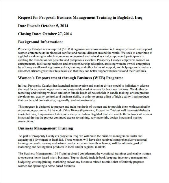 business sales training proposal sample