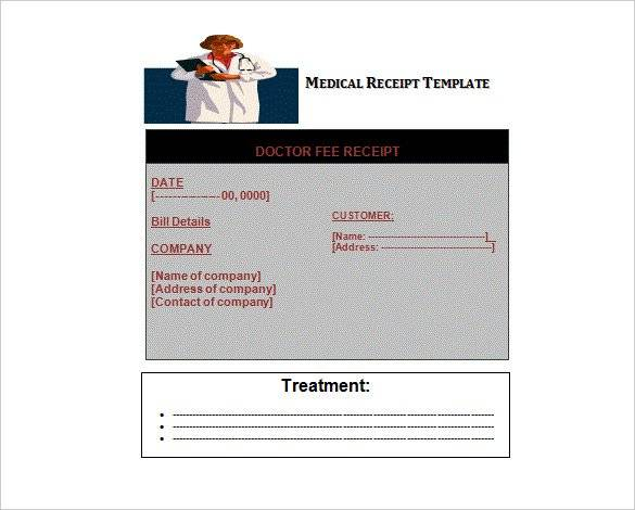 FREE 11+ Medical Bill Receipt Templates in PDF | MS Word ...