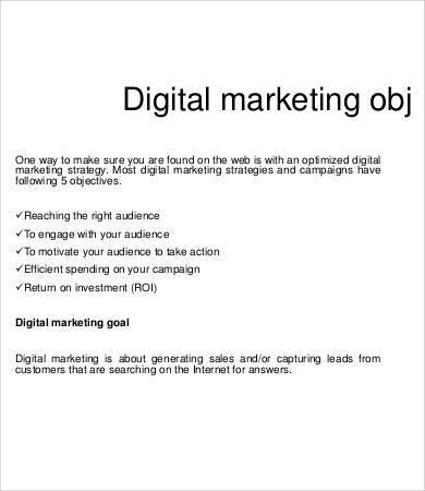 digital marketing campaign proposal template