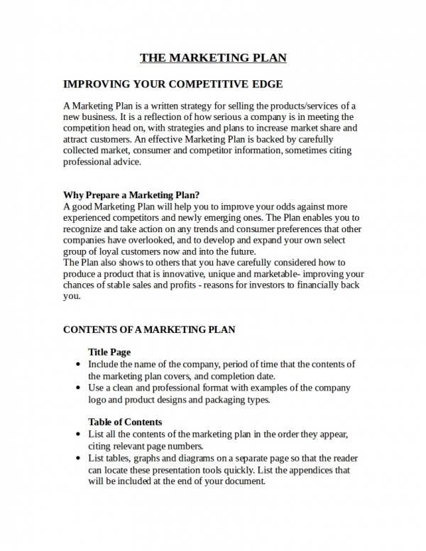 editable startegic sales and marketing plan template