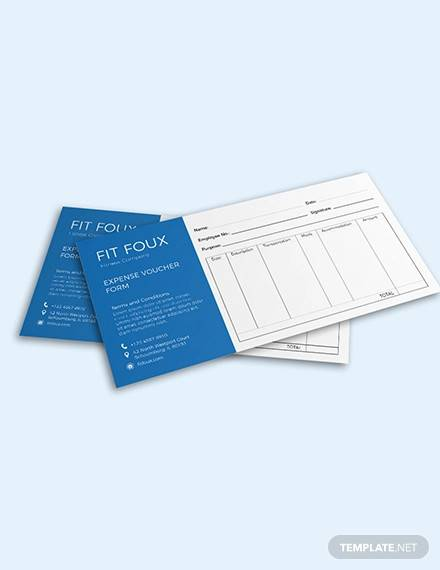 expense voucher template