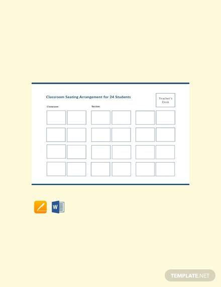free 20  printable seating chart templates in ms word