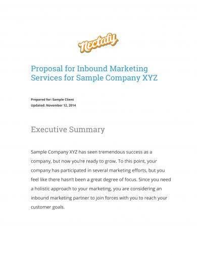 inbound marketing campaign proposal