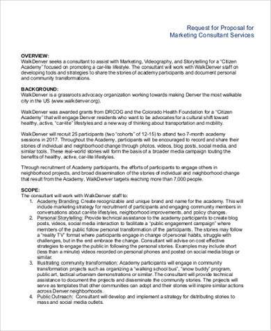marketing consultant proposal template