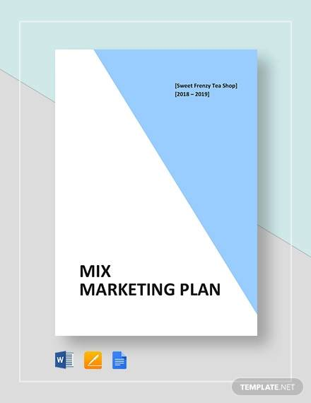 mix marketing plan template