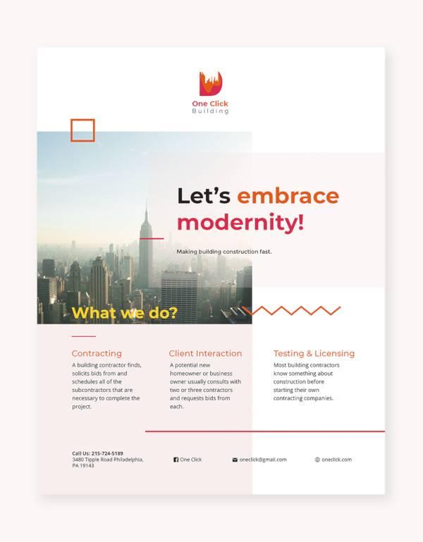 modern flyer template